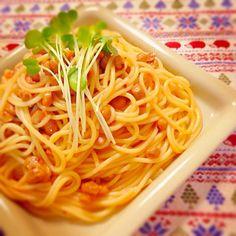 今日はひとり飯! - 11件のもぐもぐ - 納豆食べラーパスタ。 by asumi1022