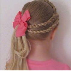 Simple and cute flower girl hair option
