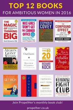 Are you an ambitious woman wanting to read great books to support your personal development and professional success? PropelHer is the place for you. Check out these 12 amazing books!