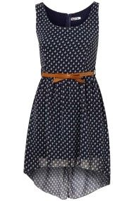printed sheer dress by awl g, topshop