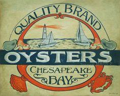 Oyster Seafood   16 by 20 inch Poster / Print by ZekesAntiqueSigns, $22.00