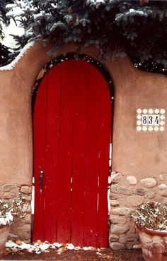 door in winter