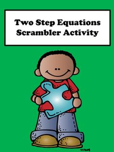 Two Step Equations:  Students will enjoy finding the solutions of two step equations with this scrambler activity.  This activity is great for remediation and differentiation. It contains two levels. Level one is for student who struggle with one step equations and level two for advanced learners.:::::::::::::::::::::::::::::::::::::::::::::::::::::::::::::::::::::::::::::::::::::::::::::::::If you like this puzzle, consider buying the equations and inequalities scrambler bundle for $5.00.