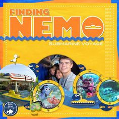 Finding Nemo Submarine Ride - Page 3 - MouseScrappers.com Disney Style, Disney Love, Disney Magic, Disney Ideas, Disney Scrapbook Pages, Scrapbooking Layouts, Finding Nemo Submarine Voyage, Disneyland Ca, Epcot