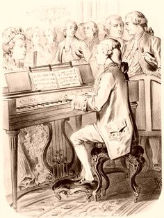 Mozart at the piano. Families of the World ~ The Universal Compendium