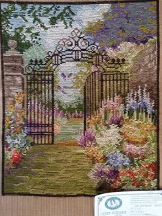 Wrought Iron Garden Gates, Small Country Homes, Old Bras, English Garden Design, Tapestry Kits, Classic Theme, Needlepoint Kits, Canvas Prints, Cotton Canvas