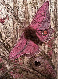 Annemieke Mein's Textile Sculptures: Pink Emperor Gum Moth, Cultural Entomology Digest 4