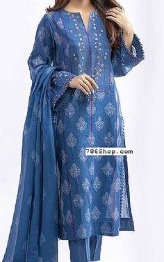 Pakistani Dresses online shopping in USA, UK. Pakistani Fashion Casual, Pakistani Dresses Casual, Pakistani Dress Design, Pakistani Lawn Suits, Salwar Suits, Kurta Designs Women, Salwar Designs, Kurti Designs Party Wear, Denim Kurti Designs