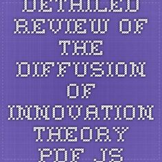 Detailed Review of the Diffusion of Innovation Theory - pdf.js