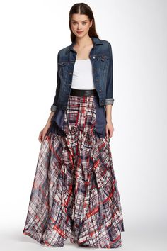 Bustled Plaid Skirt by TOV on @HauteLook  ## I know there is a young lady wearing this outfit, however I know myself and you older gals out there could sure rock this..(frugalsues)