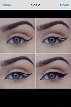 50 Super Ideas Makeup Eyeshadow Tutorial Step By Step Winged Eyeliner # . - 50 Super Ideas Makeup Eyeshadow Tutorial Step By Step Winged Eyeliner # – - Makeup Eye Looks, Eye Makeup Steps, Cat Eye Makeup, No Eyeliner Makeup, Smokey Eye Makeup, Skin Makeup, Makeup Brushes, Emo Makeup, Cheap Makeup