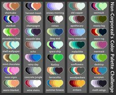 Skin Color Palette, Palette Art, Drawing Challenge, Art Challenge, Colour Schemes, Color Combos, Color Palette Challenge, Art Prompts, Color Swatches