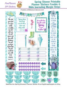 Bible Journaling Margin Strips Download Free Printable Planner Stickers & Bible Journaling Margin Strips   Read more...