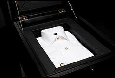 Cased tuxedo shirt....