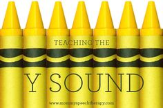 How to Teach the Y Sound