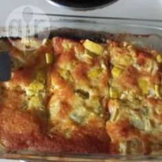 Foto recept: Ovenschotel met courgette, ei, en kaas