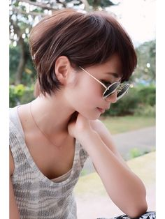 Do you want to change your look instantly? Let's start with your hair first! Please refer 60 lovly short hair style that you can not ignored. Short Bob Hairstyles, Cool Haircuts, Hairstyles Haircuts, Pretty Short Hair, Hair Tuck, Shot Hair Styles, Asian Hair, Stylish Hair, Hair Dos