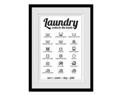 Laundry Symbols - Laundry Room Poster