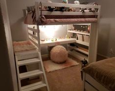 Deciding to Buy a Loft Space Bed (Bunk Beds). – Bunk Beds for Kids Loft Beds For Teens, Adult Loft Bed, Kids Bunk Beds, Bedroom Loft, Kids Bedroom, Bedroom Decor, Girls Bedroom With Loft Bed, Bedroom Ideas, Loft Room