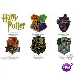 Machine Embroidery Designs - Harry Potter set of 6 Listing in the Patterns,Machine Embroidery,Crafts & Sewing Category on eBid United States