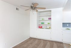 Stylish shelving units at COUNTRYWOOD APARTMENTS IN REDLANDS, CA  #AMCLiving #LiveHappy #ApartmentIdeas #ApartmentsDecor #Apartmentliving #home #dreamhome #renovate #renovations