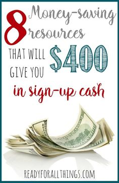 These resources to help you save money are amazing, and you can get up to $400 in cash right now with sign-up bonuses!