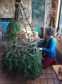 A few years ago, I posted about Birthing New Traditions during the holiday time,.- A few years ago, I posted about Birthing New Traditions during the holiday time, and when I shared a photo of my DIY Solstice Natural Christmas, Rustic Christmas, Christmas Holidays, Xmas, Yule Traditions, Christmas Traditions, Winter Solstice Traditions, Yule Decorations, Christmas Decorations