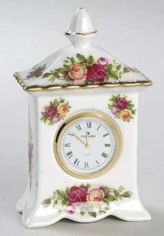 Royal Albert Old Country Roses Small Carriage Clock