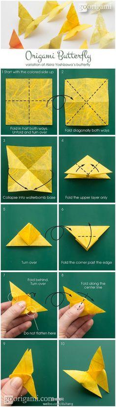 origami papillon