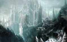 Ice castle wallpaper