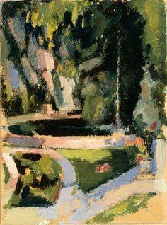 'The Pond', John Duncan Fergusson, circa 1925.