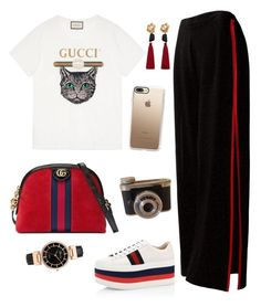"""""""Untitled #303"""" by glissy23 on Polyvore featuring Sans Souci, Gucci, Casetify and MANGO"""