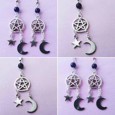 www.etsy.com/shop/OfStarsAndWine ☾☾ Matching witchy pentagram earrings and necklace just listed!