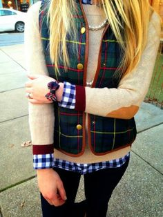 Fluffy Vest With Elbow Patch Sweater and Cute Hand Bow