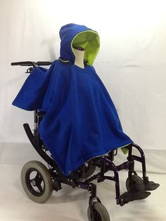 Adult #Wheelchair Poncho Coat Jacket by PoppinPonchos on Etsy, $60.00