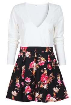 Shop White V Neck Floral Print A Line Dress online. Sheinside offers White V Neck Floral Print A Line Dress & more to fit your fashionable needs. Free Shipping Worldwide!