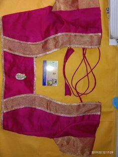 Patch Work Blouse Designs, Simple Blouse Designs, Stylish Blouse Design, Blouse Back Neck Designs, Sari Blouse Designs, Blouse Patterns, Blouse Styles, Saree Blouse, Sarees