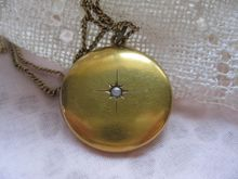 Victorian 10K Locket gold fill Chain Necklace