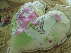 Handmade Shabby Chic Heart $30.00 USD @dkshopgirl      # lavender #heart#sachet
