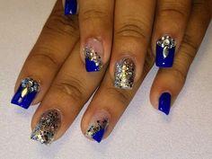 Nice Nails, Fun Nails, Nail Art, Facebook, Awesome, Blue, Beauty, Ball Lights, Christmas Nails