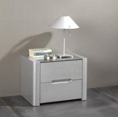 Table de Chevet de Design Moderne : Collection MIRIAM Argent