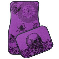 Gothic Style Purple Car Mat Set