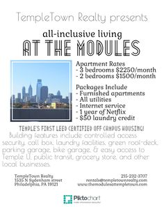 All Inclusive Living At The Modules Near Temple U 750 Person Templetown Realty  C2 B7 Apartments And Houses For Rent At Temple University