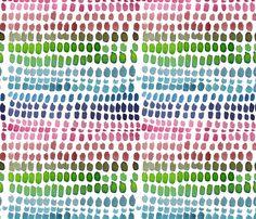 C'EST LA VIV™ Garden Lark Collection_RAIN   fabric by c'est_la_viv on Spoonflower - custom fabric