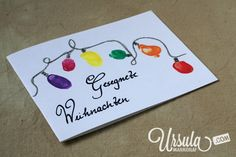 Make cute fingerprint Christmas cards with your kids! Lots of fun! (Link to tutorial in post)
