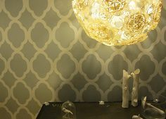 DIY Doily Lamps. For my future craft room?