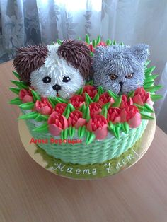 Puppy and Cat cake