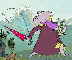 Violette Mirgue à la montagne
