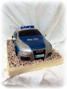 Polizeiauto Kuchen Torte Police Car cake