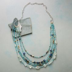 BRASSY BLUES NECKLACE: View 2